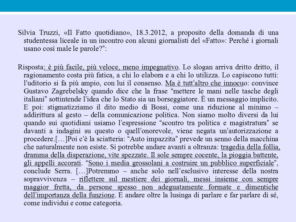 Silvia Truzzi, «Il Fatto quotidiano», 18. 3