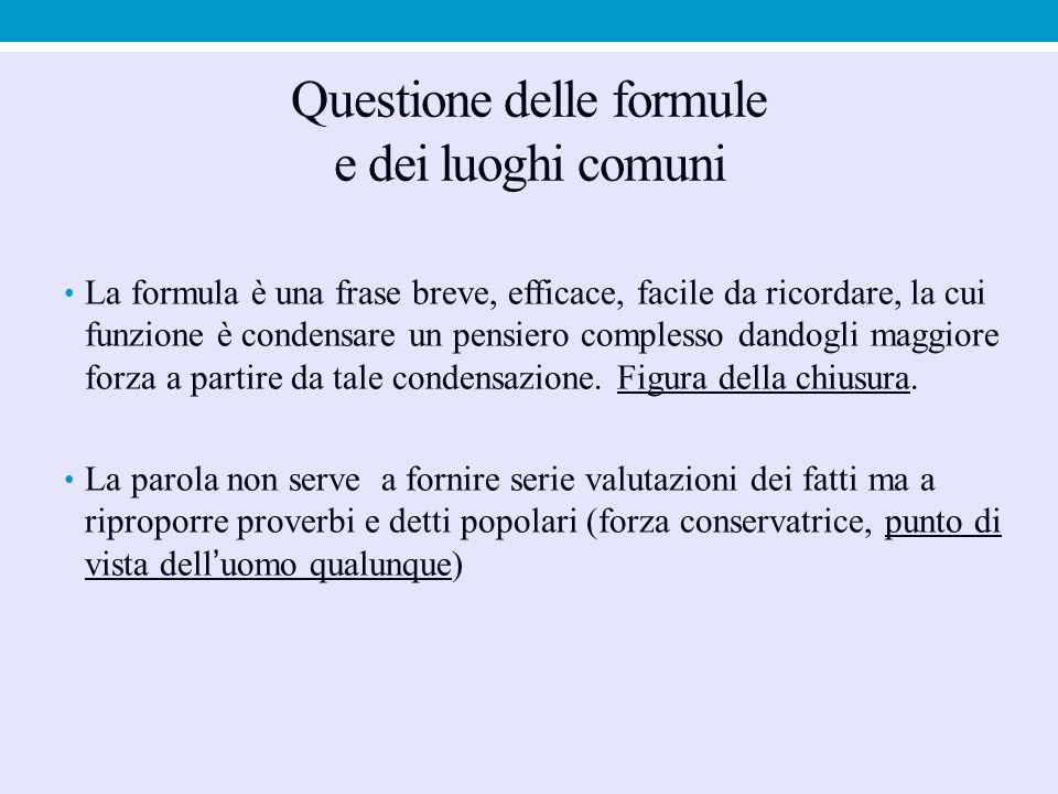 Questione delle formule e dei luoghi comuni