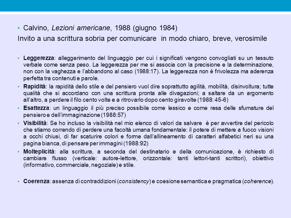 Calvino, Lezioni americane, 1988 (giugno 1984)