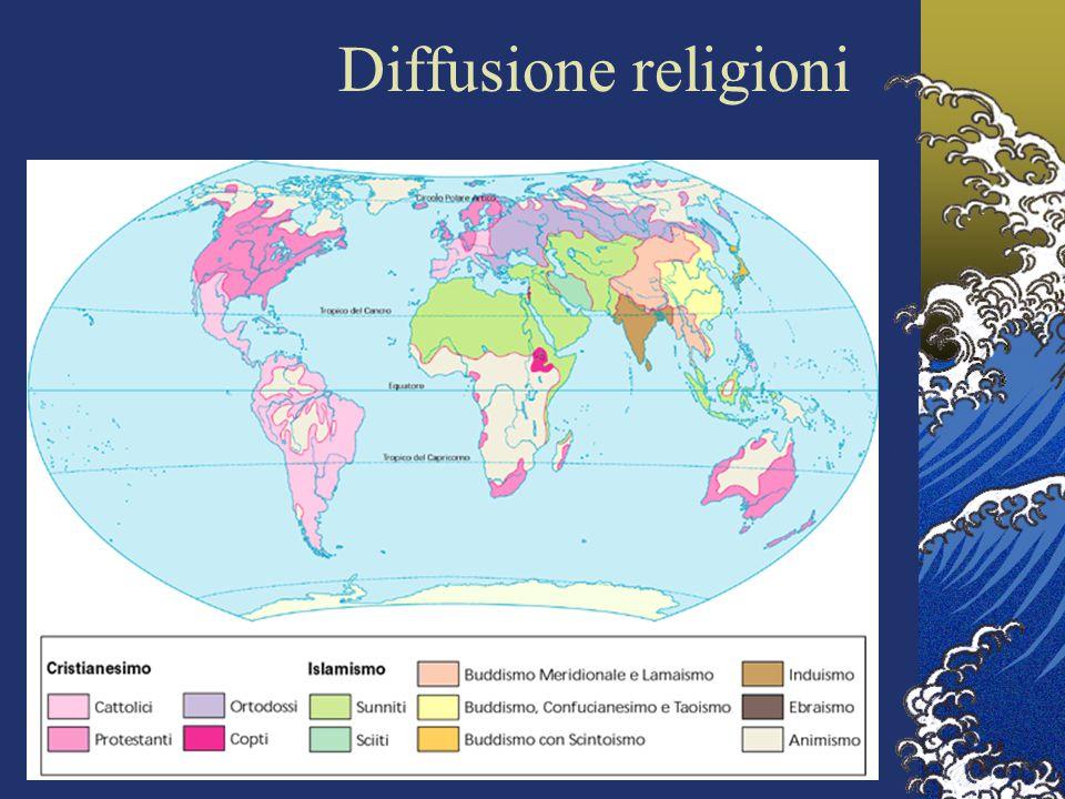 Diffusione religioni