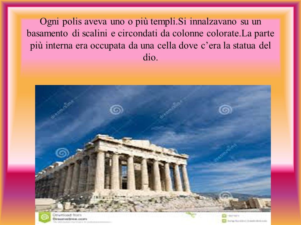 Ogni polis aveva uno o più templi