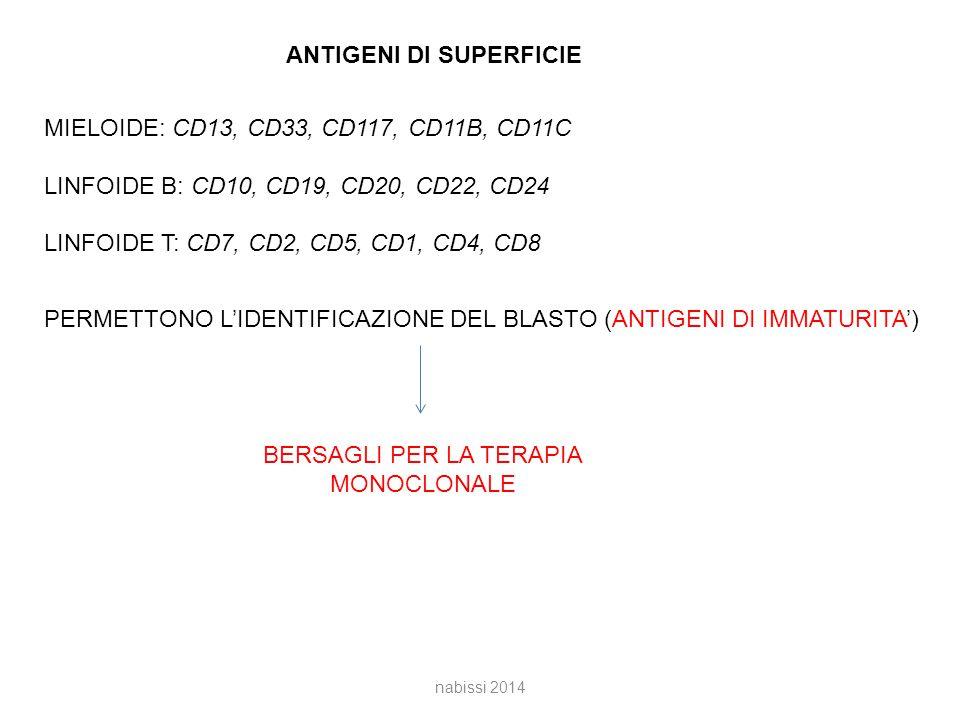 ANTIGENI DI SUPERFICIE