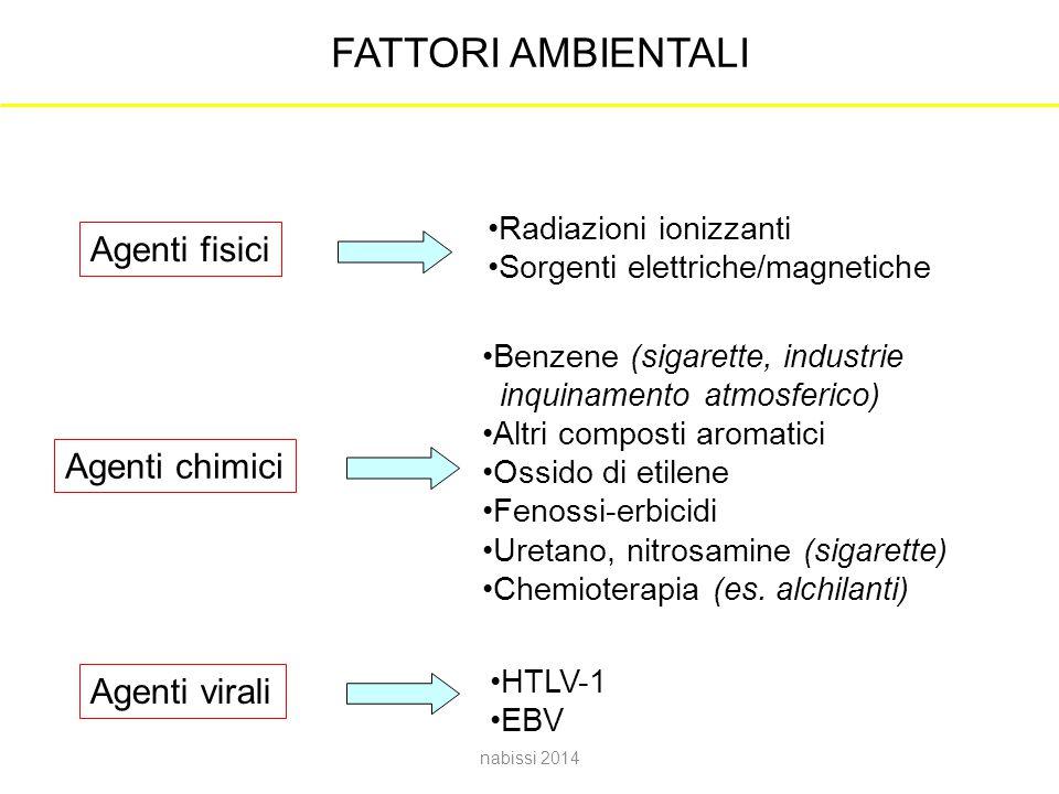 FATTORI AMBIENTALI Agenti fisici Agenti chimici Agenti virali