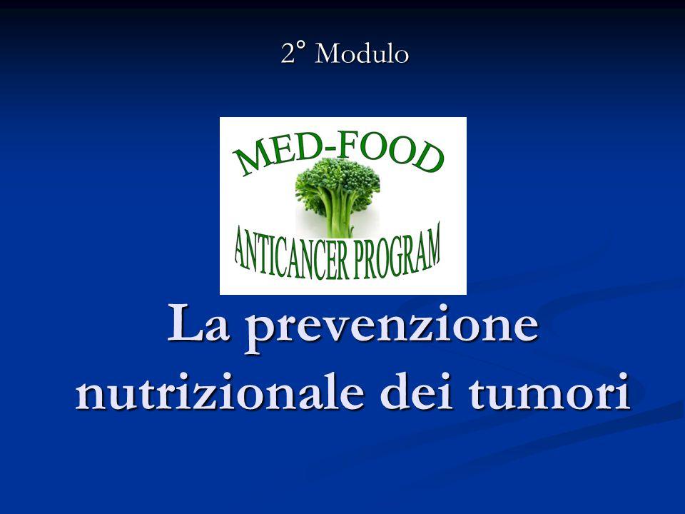 La prevenzione nutrizionale dei tumori