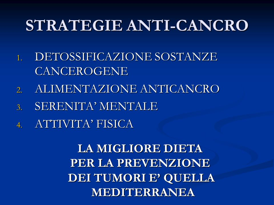 STRATEGIE ANTI-CANCRO