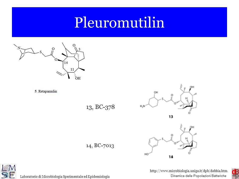 Pleuromutilin 13, BC-378 14, BC-7013