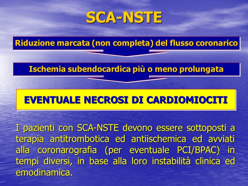 SCA-NSTE EVENTUALE NECROSI DI CARDIOMIOCITI
