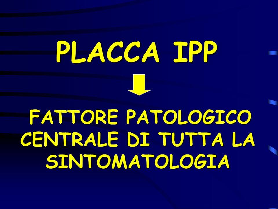 FATTORE PATOLOGICO CENTRALE DI TUTTA LA SINTOMATOLOGIA
