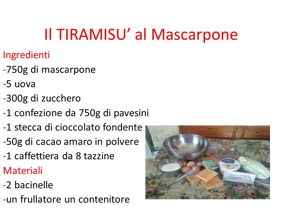 Il TIRAMISU' al Mascarpone