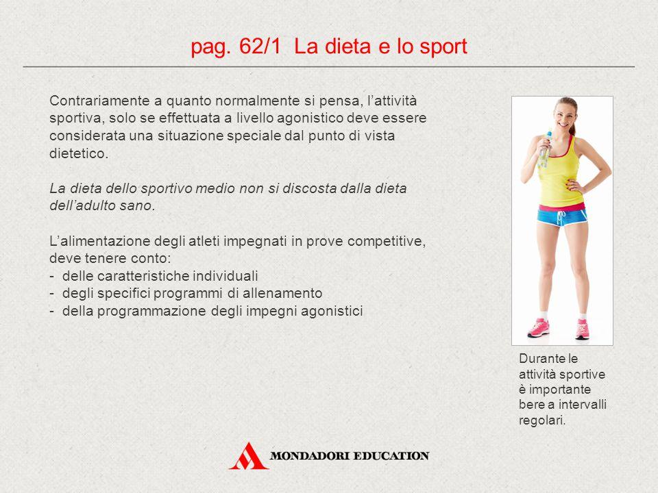 pag. 62/1 La dieta e lo sport
