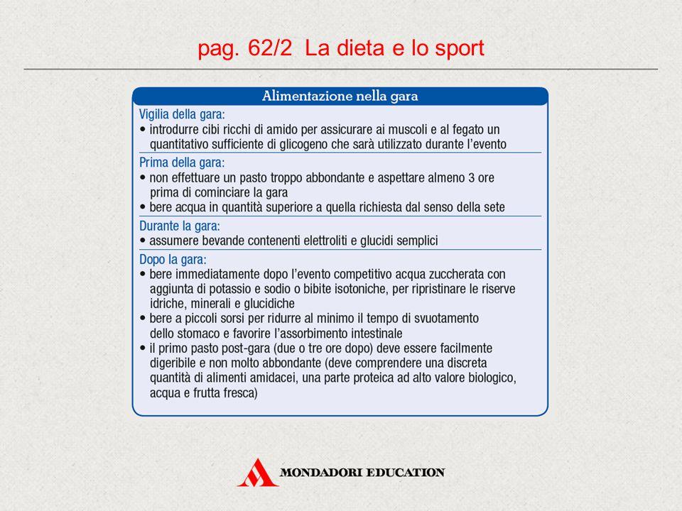 pag. 62/2 La dieta e lo sport 11 11