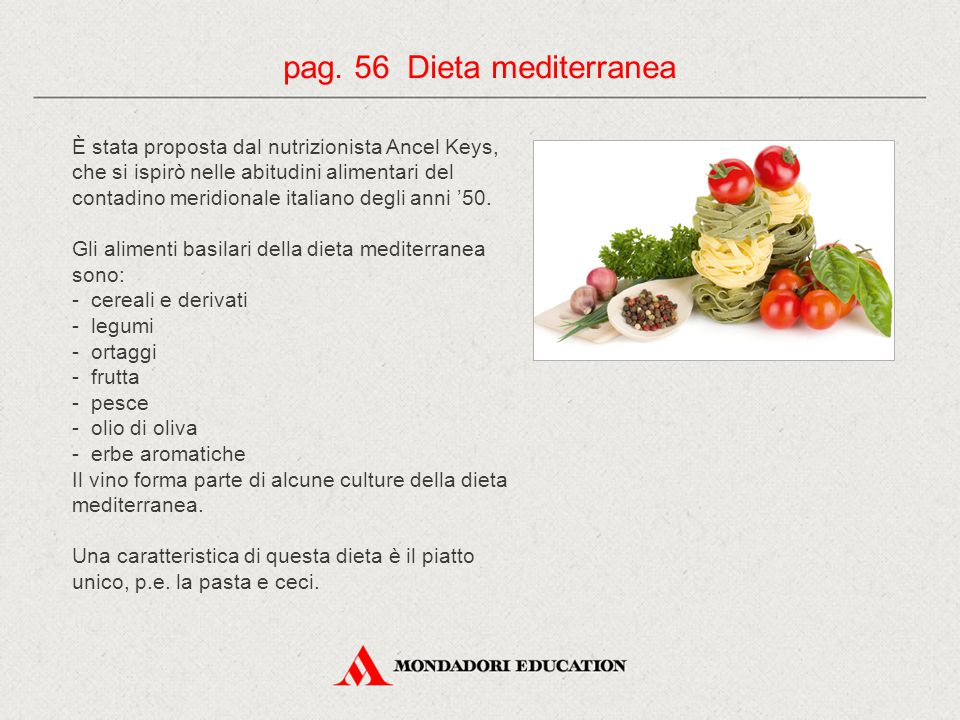pag. 56 Dieta mediterranea
