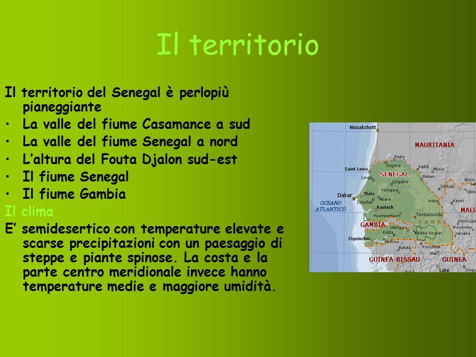 Il territorio Il territorio del Senegal è perlopiù pianeggiante