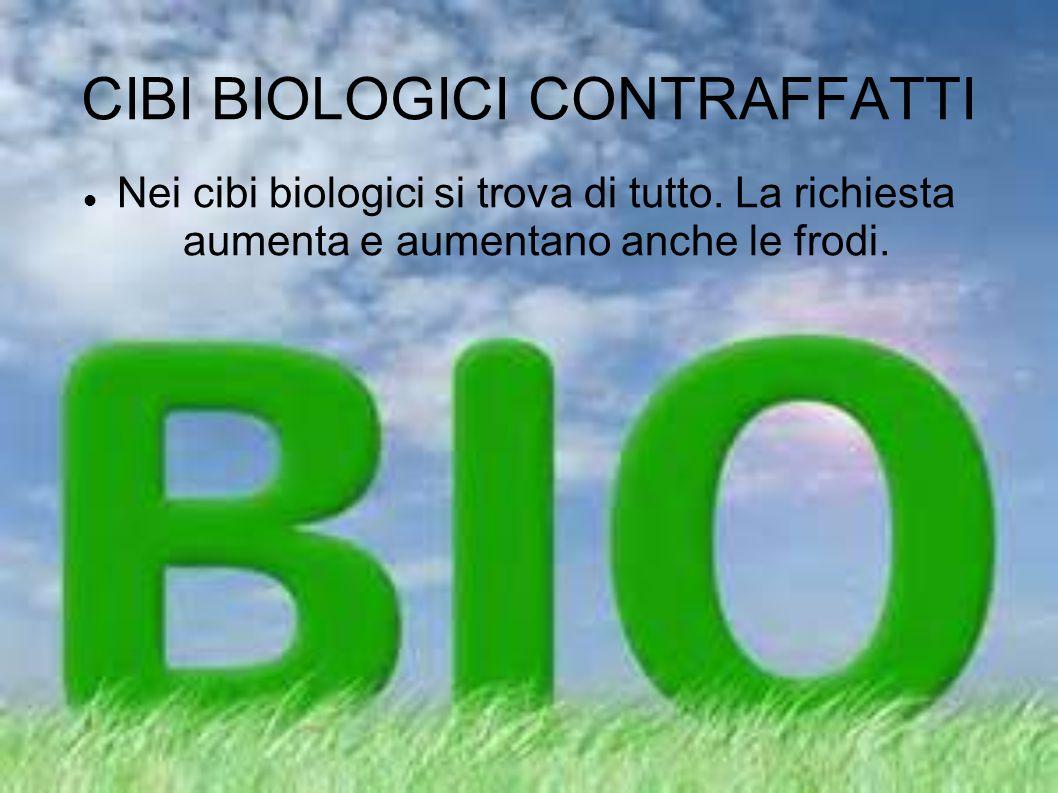 CIBI BIOLOGICI CONTRAFFATTI