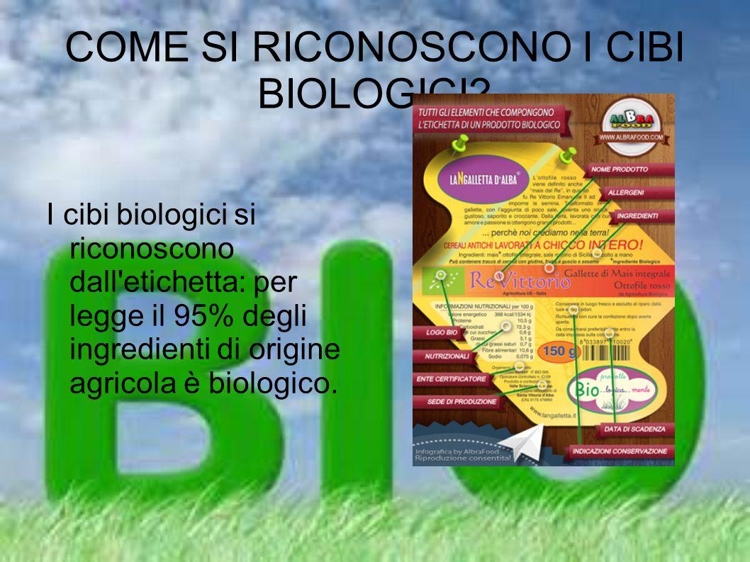 COME SI RICONOSCONO I CIBI BIOLOGICI