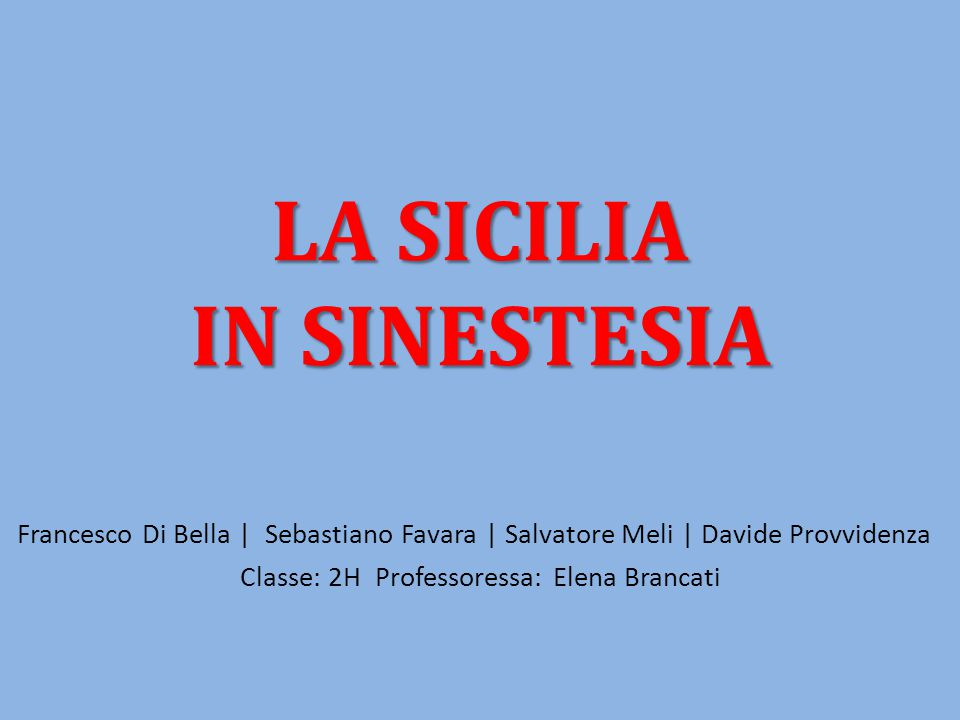 Classe: 2H Professoressa: Elena Brancati