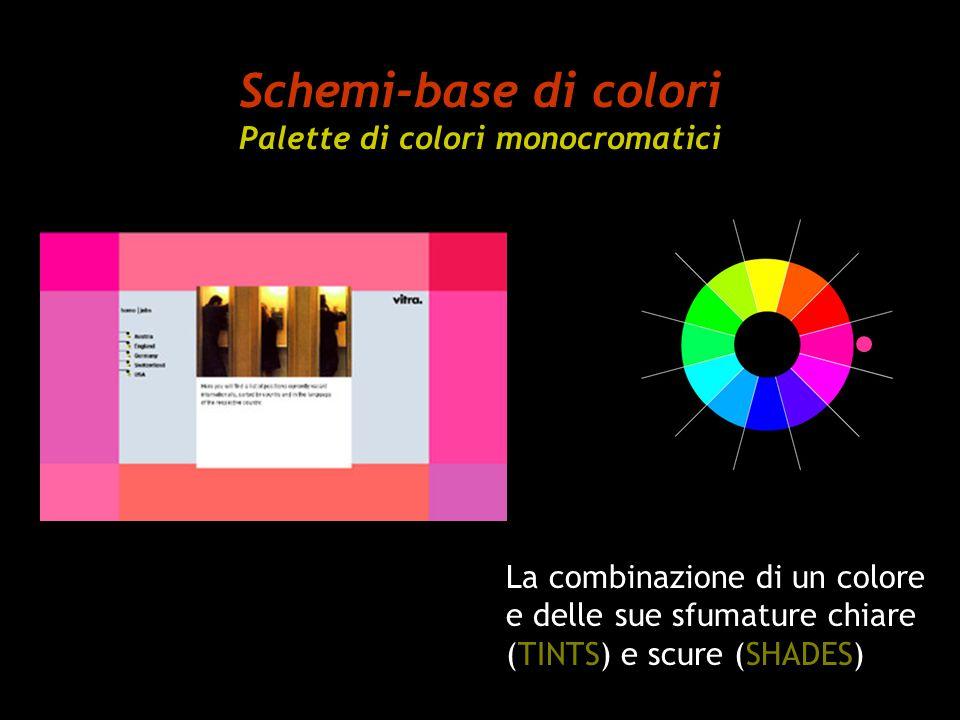 Schemi-base di colori Palette di colori monocromatici