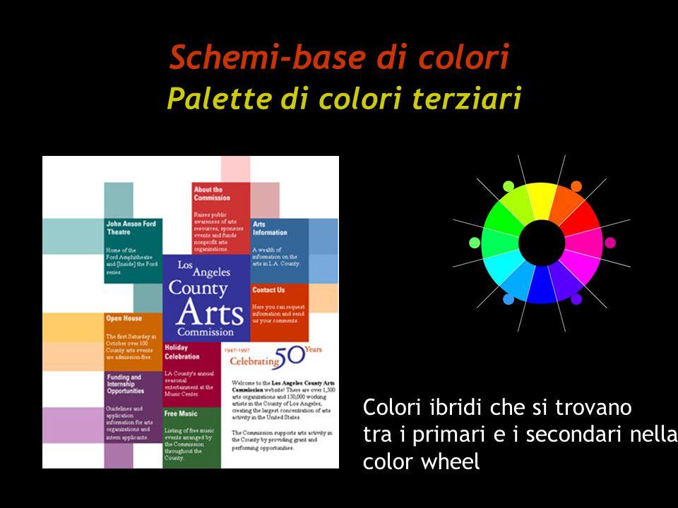 Schemi-base di colori Palette di colori terziari