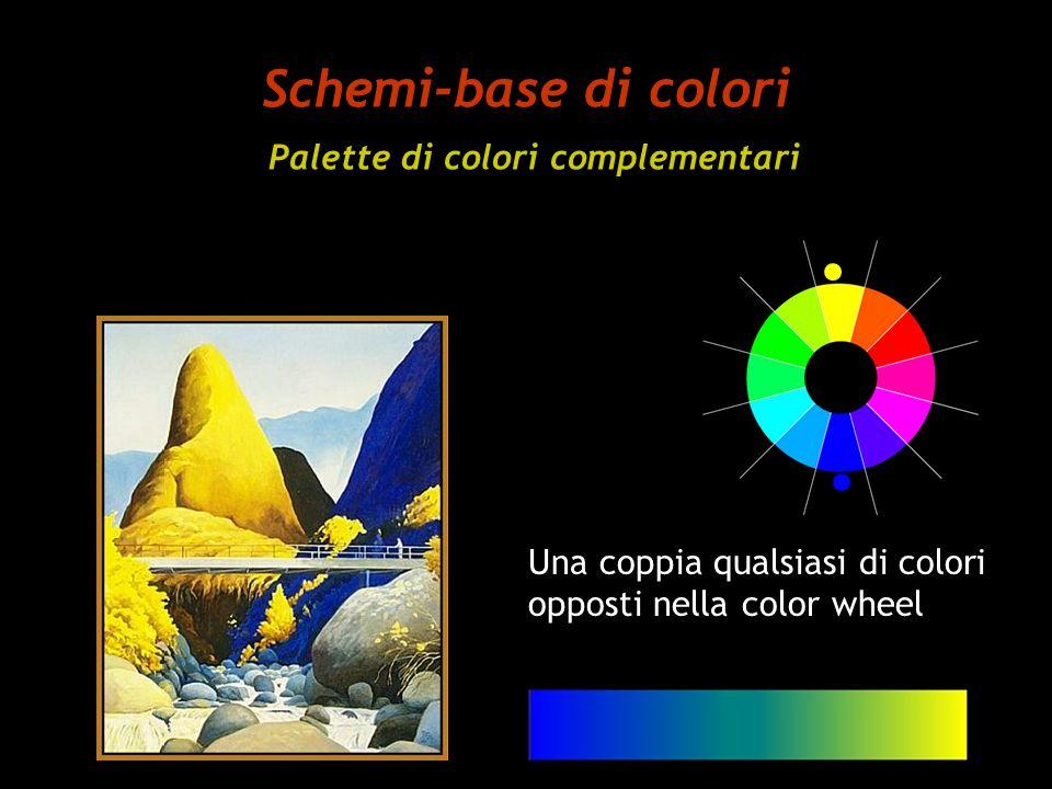 Schemi-base di colori Palette di colori complementari