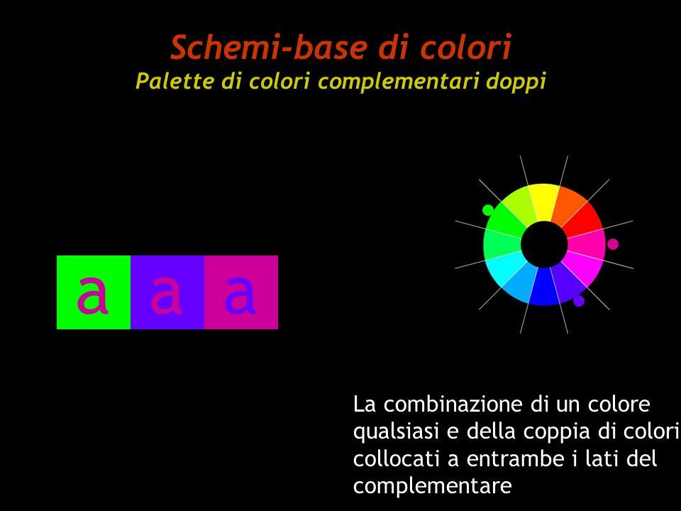 Schemi-base di colori Palette di colori complementari doppi