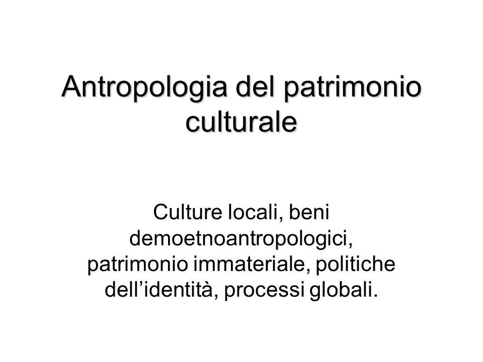 Antropologia del patrimonio culturale