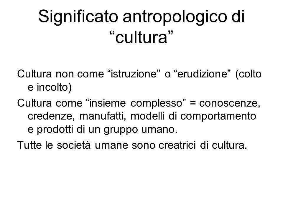 Significato antropologico di cultura