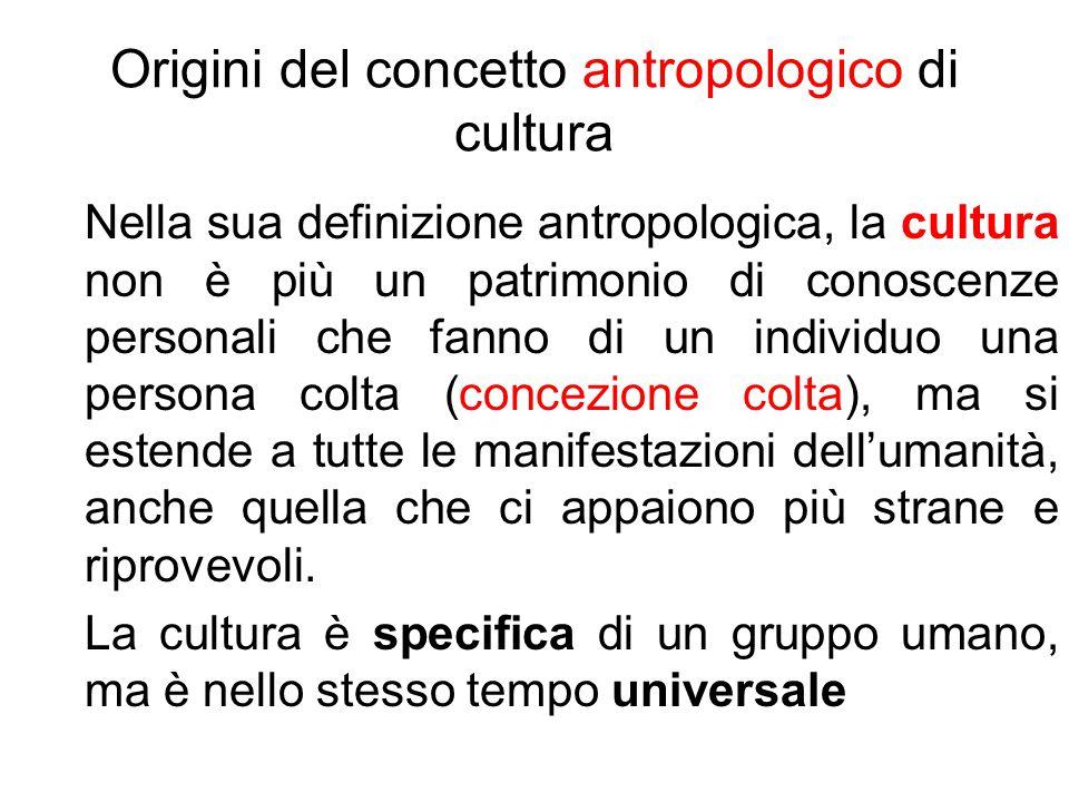 Origini del concetto antropologico di cultura