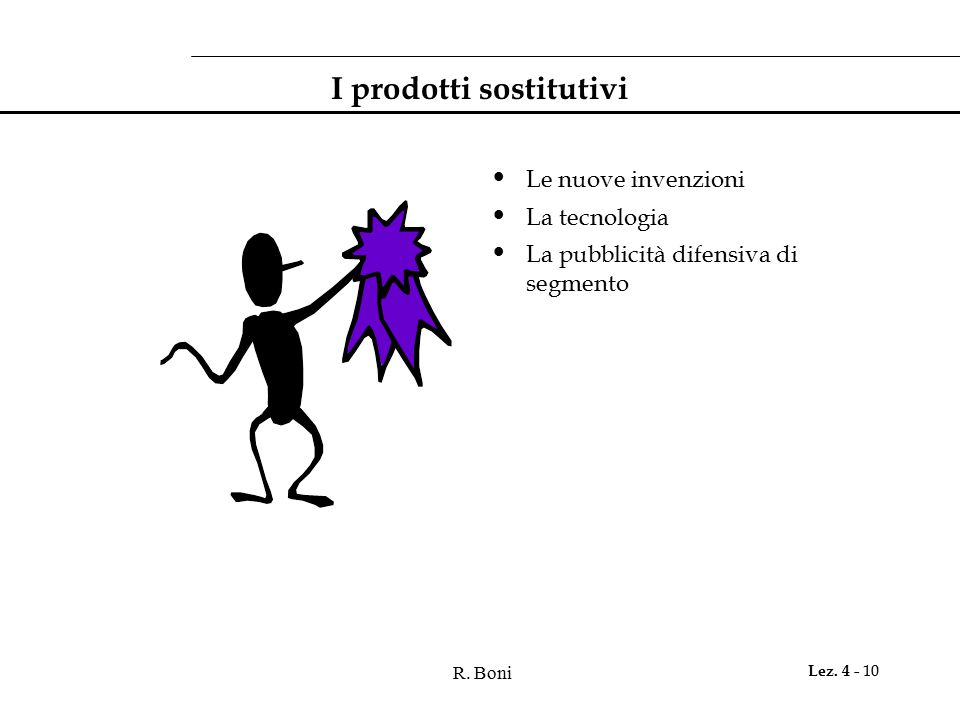 I prodotti sostitutivi