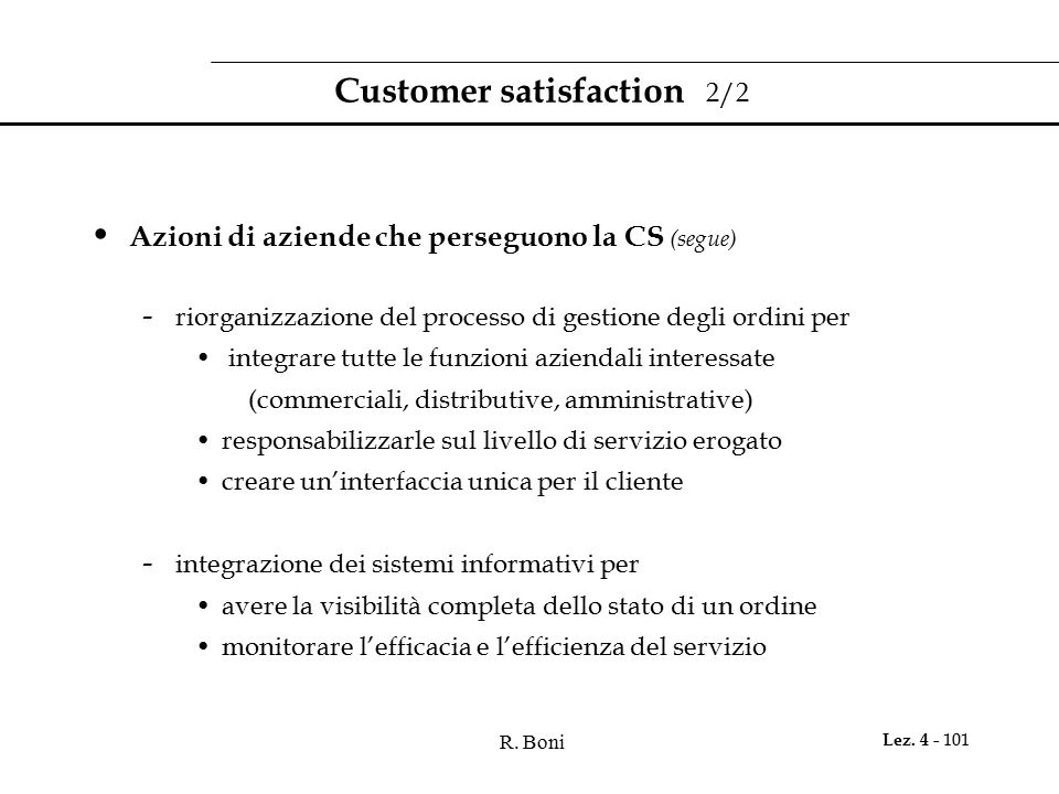 Customer satisfaction 2/2