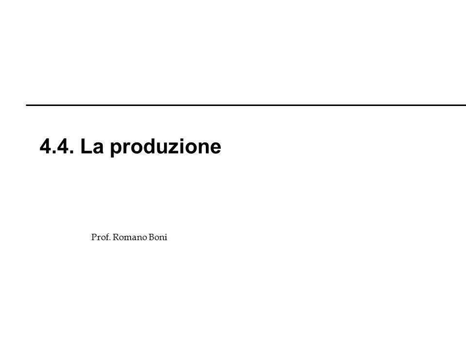 4.4. La produzione Prof. Romano Boni