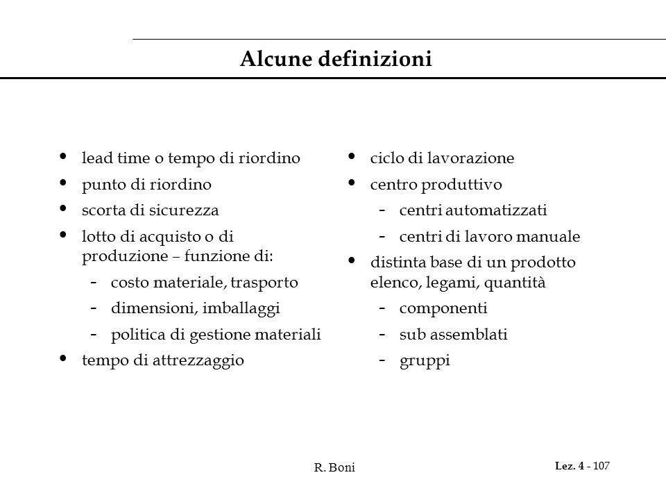Alcune definizioni lead time o tempo di riordino punto di riordino