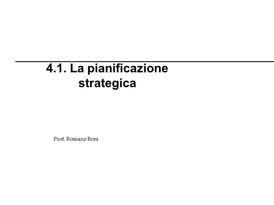 4.1. La pianificazione strategica