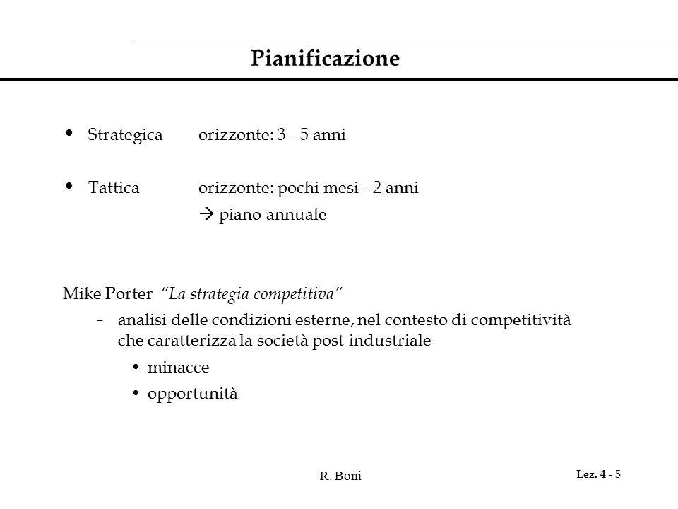 Pianificazione Strategica orizzonte: 3 - 5 anni