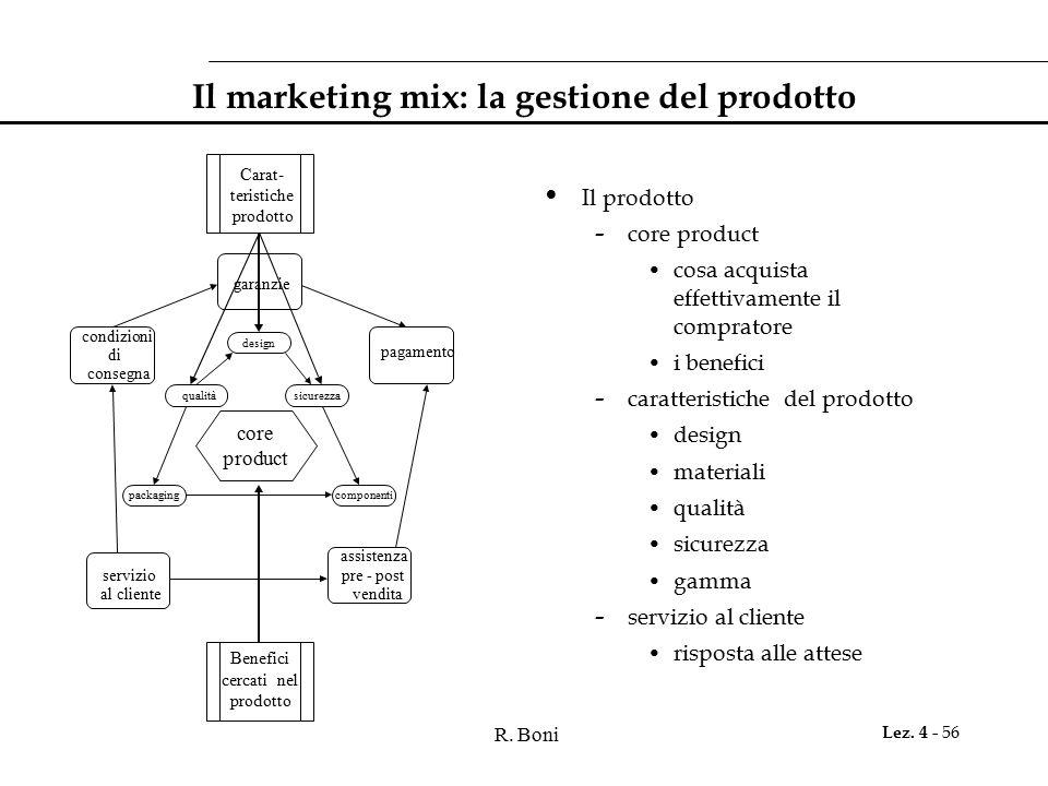 Il marketing mix: la gestione del prodotto