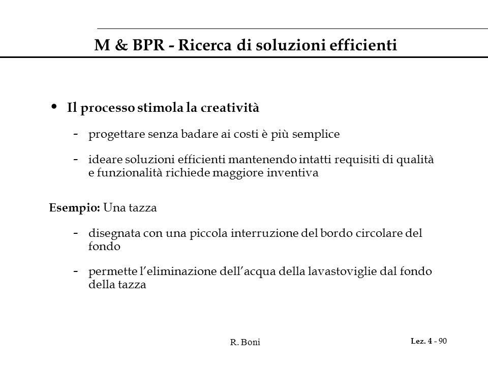 M & BPR - Ricerca di soluzioni efficienti