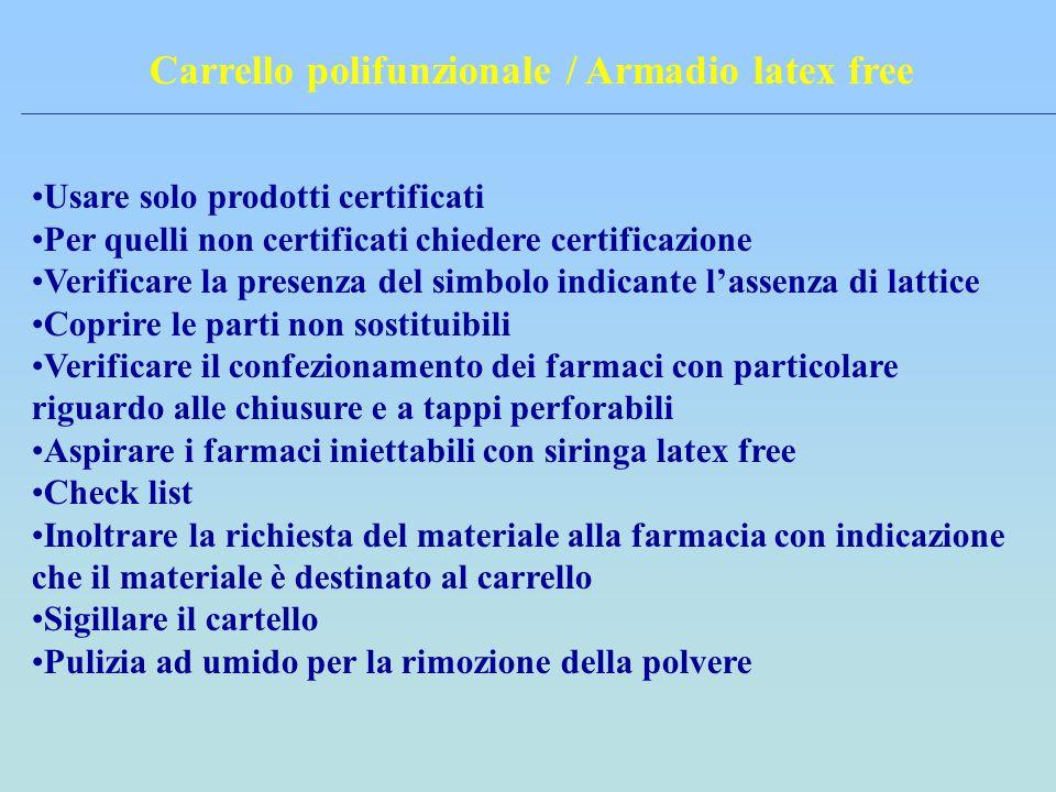 Carrello polifunzionale / Armadio latex free