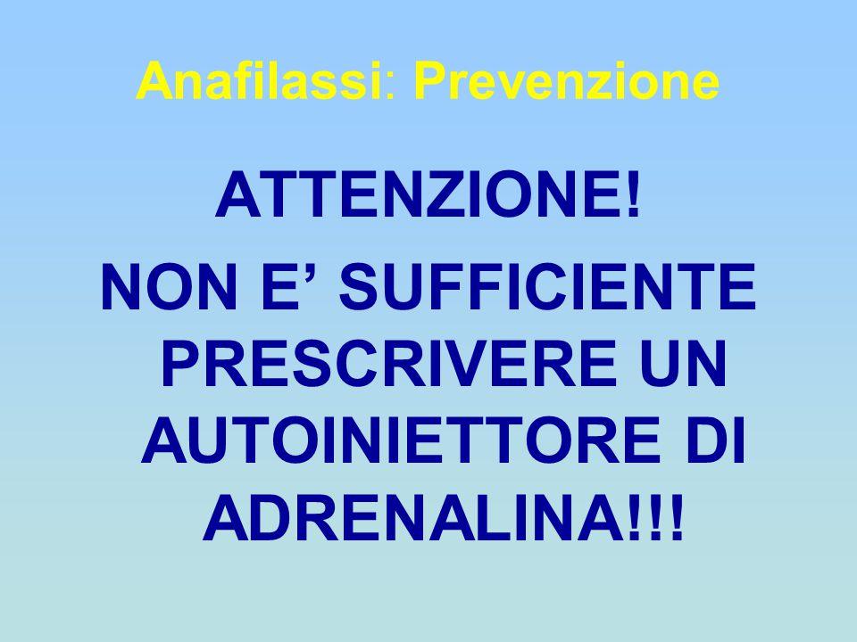 Anafilassi: Prevenzione