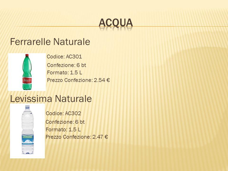 Acqua Ferrarelle Naturale Codice: AC301 Levissima Naturale