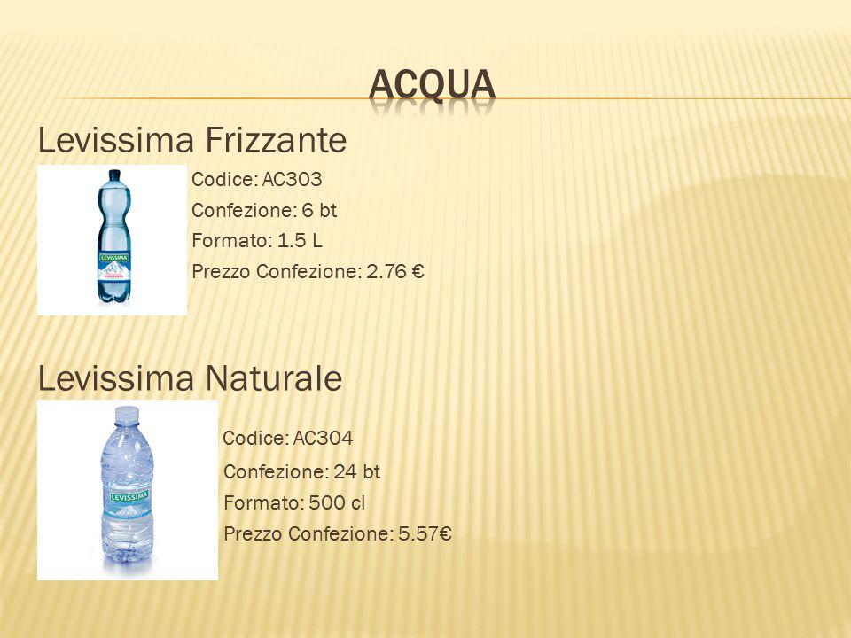 ACQUA Levissima Frizzante Levissima Naturale Codice: AC304