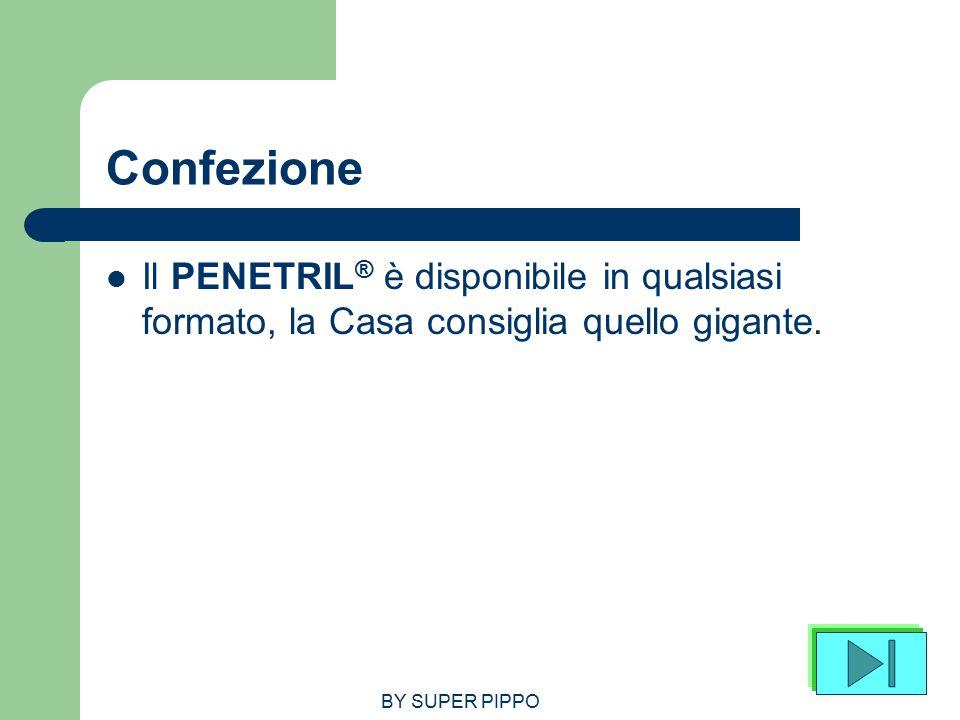 Confezione Il PENETRIL® è disponibile in qualsiasi formato, la Casa consiglia quello gigante.