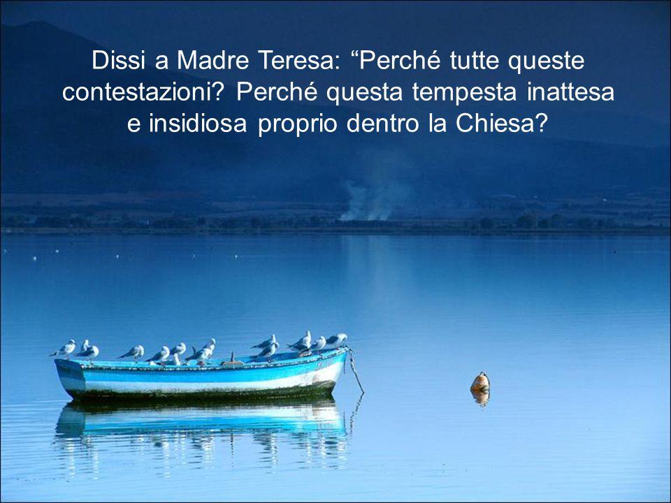 Dissi a Madre Teresa: Perché tutte queste contestazioni
