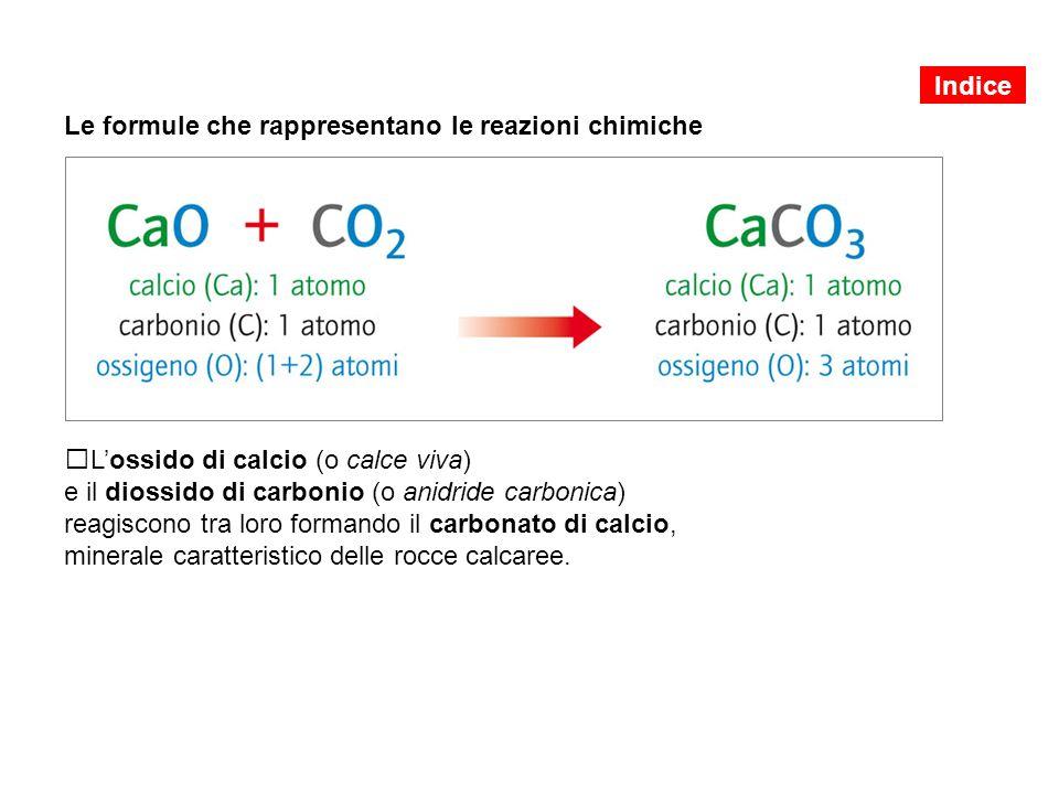 Le formule che rappresentano le reazioni chimiche