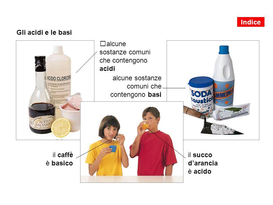 alcune sostanze comuni che contengono acidi