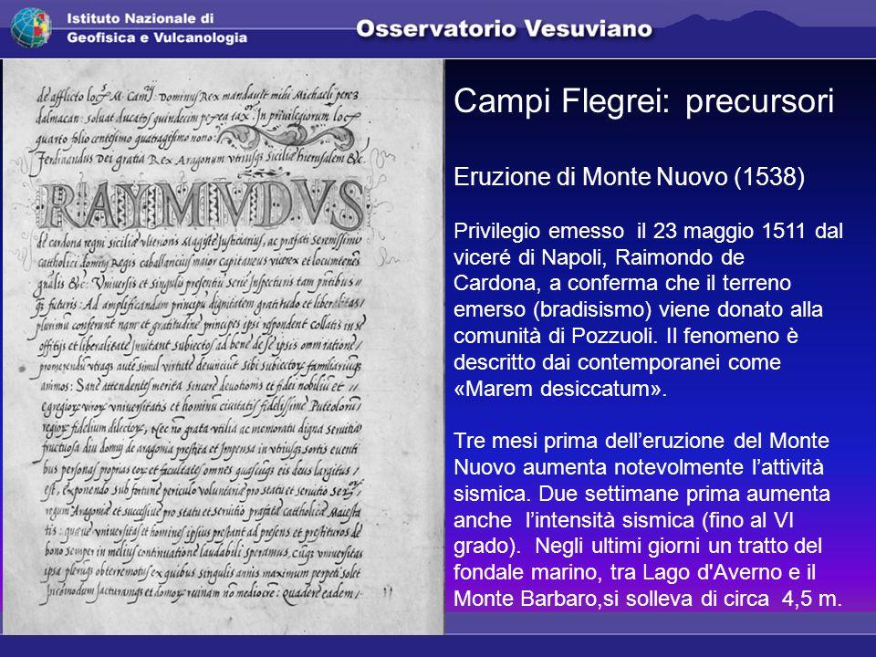 Campi Flegrei: precursori