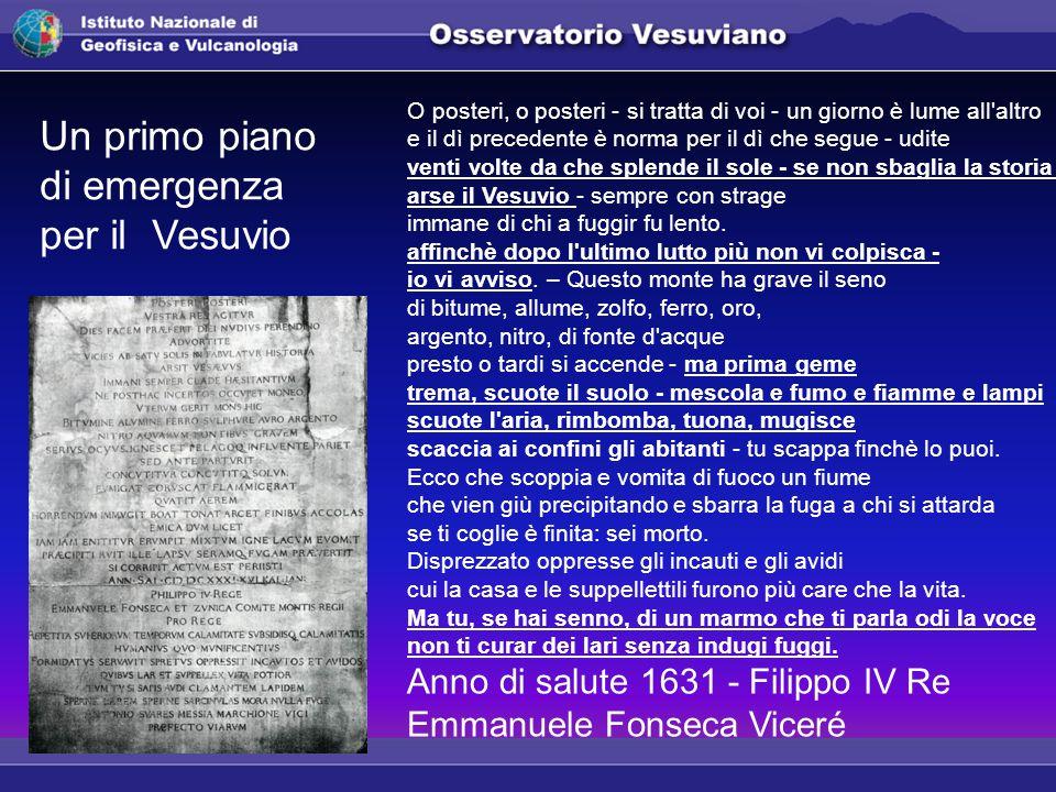 Un primo piano di emergenza per il Vesuvio