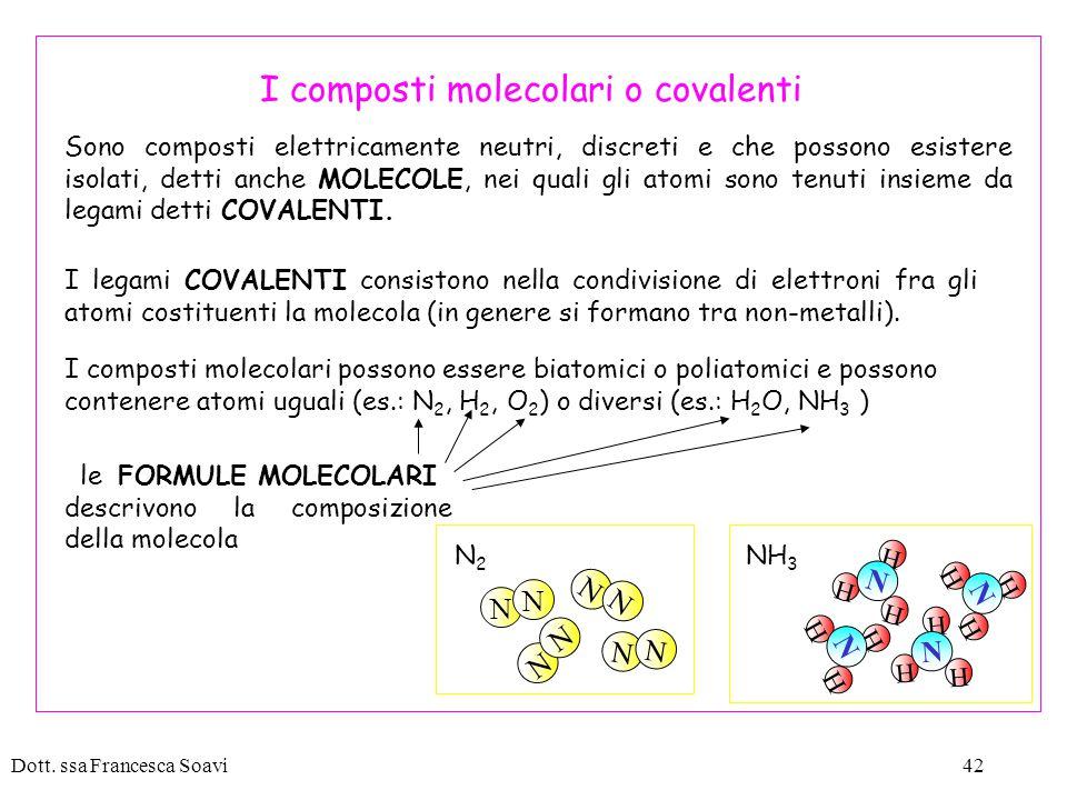 I composti molecolari o covalenti
