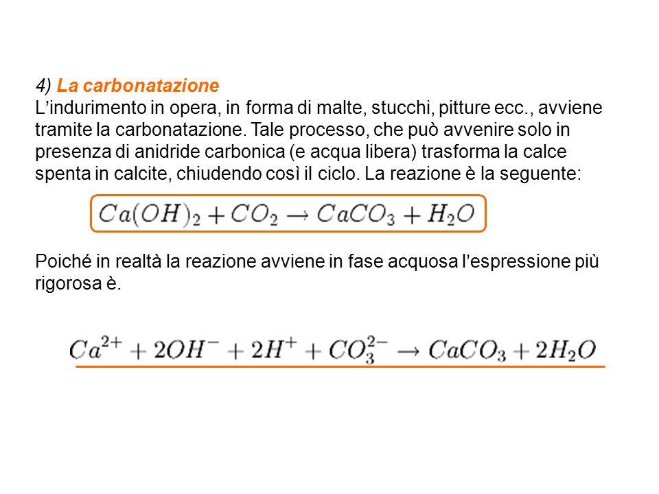 4) La carbonatazione
