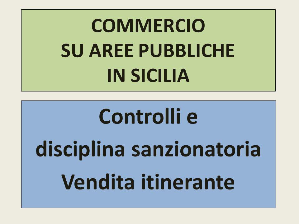 COMMERCIO SU AREE PUBBLICHE IN SICILIA