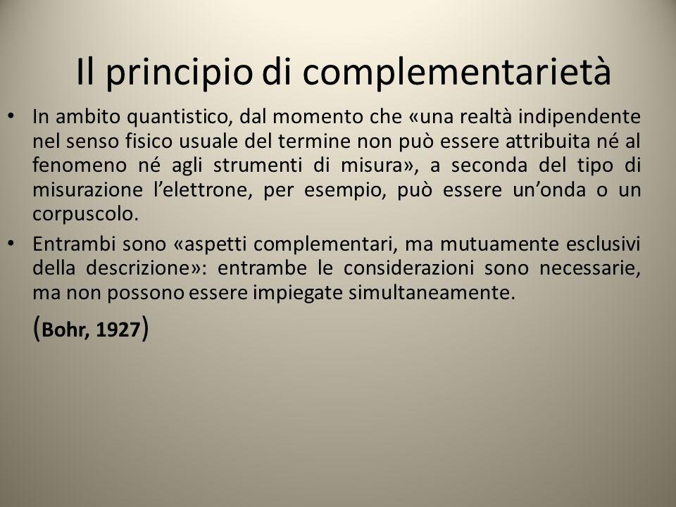 Il principio di complementarietà