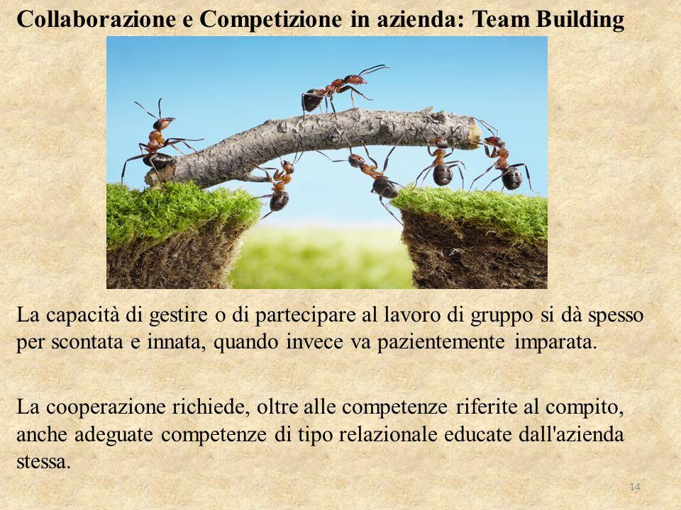 Collaborazione e Competizione in azienda: Team Building
